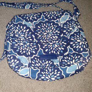 VERA BRADLEY DARK AND LIGHT BLUE SHOULDER BAG